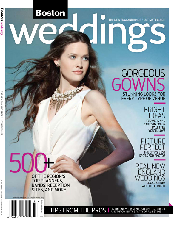 Brea McDonald new england wedding photographer featured in boston weddings magazine