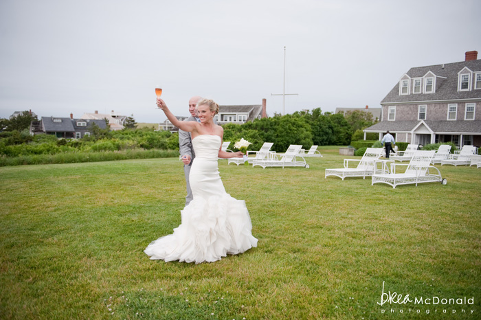 Brea McDonald nantucket wedding photographer wedding shot at the wahwinet working with soiree floral