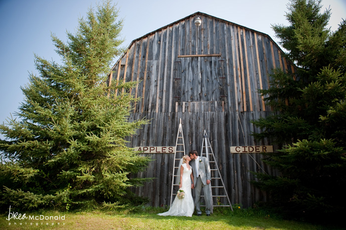 maine apple orchard wedding, maine barn wedding