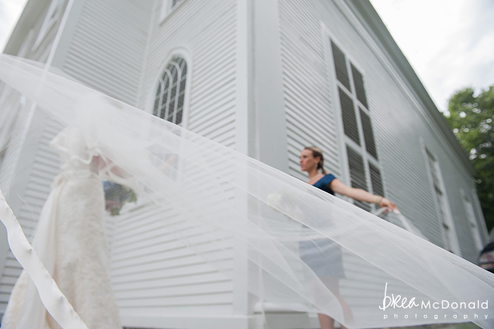 Yarmouth Maine wedding, veil