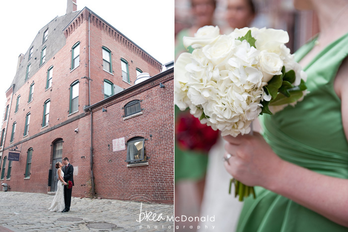 maine wedding photographer, white bridesmaid bouquet