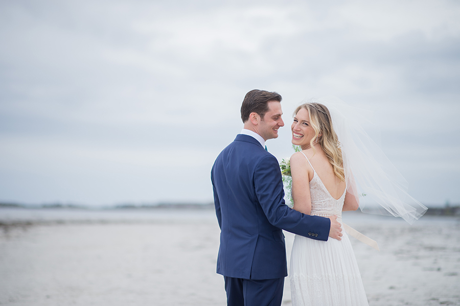 kennebunkport maine wedding at hidden pond photographed by brea mcdonald photography coastal maine wedding coastal new england wedding beach portraits at goose rocks beach in kennebunkport maine