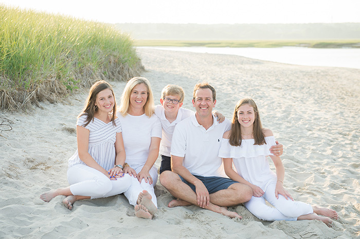 maine family beach portrait photographed by brea mcdonald photography coastal family beach portrait maine family portrait new england portrait photographer