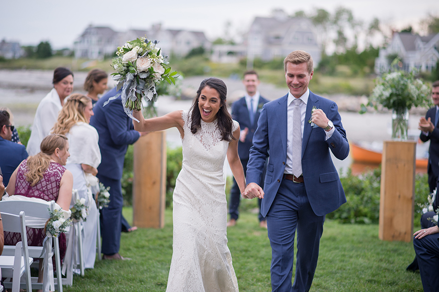 breakwater inn wedding in kennebunkport maine photographed by brea mcdonald photography coast maine wedding ceremony bride and groom just married kennebunkport maine wedding