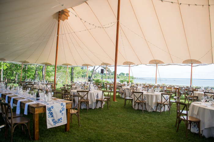Sperry Tents Maine Wedding