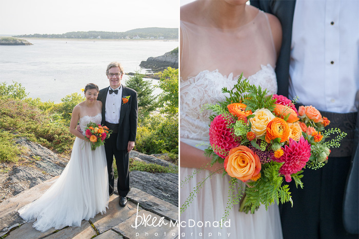 barn wedding in georgetown maine with wedding photographer brea mcdonald of brea mcdonald photography coastal maine wedding new england wedding intimate wedding small wedding for design by flora fauna