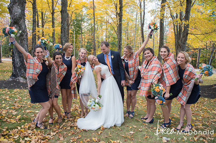 maple rock farm wedding in parsonsfield maine with wedding photographers brea mcdonald and jordan moody of brea mcdonald photography outdoor ceremony october wedding in maine barn wedding barn venue barns in maine wedding floral bridal portraits farmhouse new england weddings