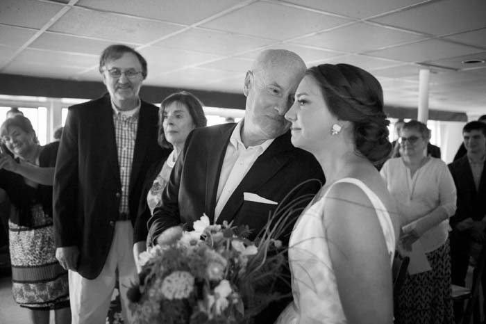 coastal portland maine wedding photographed by jordan moody for brea mcdonald photography casco bay boat wedding