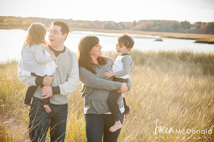 Family Beach Portrait in Wells Maine photographed by wedding and family portrait photographer Brea McDonald of Brea McDonald Photography