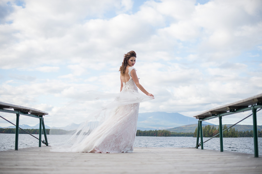 maine wedding photographer brea mcdonald photographing new england bridal inspiration shoot featured in real maine weddings magazine at the new england outdoor center in millinocket maine maine weddings maine wedding inspiration