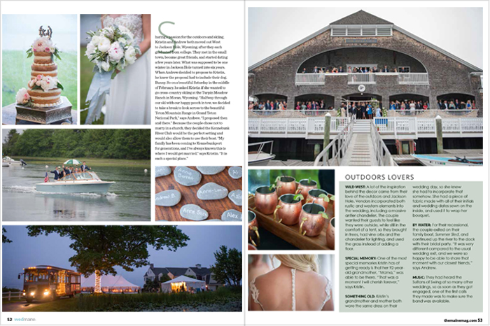 kennebunkport maine wedding photographed by brea mcdonald photography maine magazine wedding issue feature coastal maine wedding